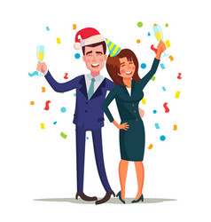 corporate christmas party smiling drunk vector image vector image