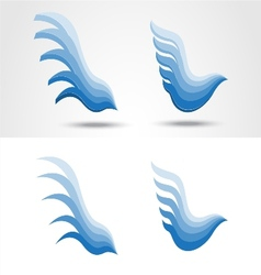 Eagle icon collection vector image vector image