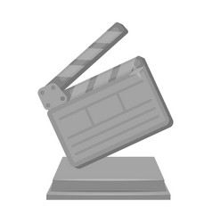 Gold clapperboard on standaward for best director vector