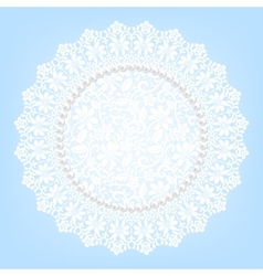 lace fabric doily and pearls vector image