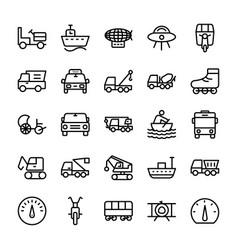 Automobile line icons 3 vector