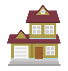 beautiful house building isolated icon vector image