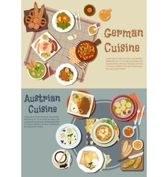 German and austrian cuisine dishes vector image