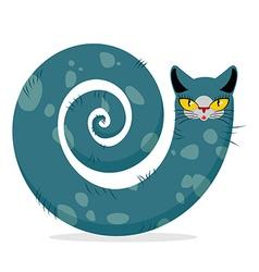 Snake cat Fantastic mythical pet Cute dreamlike vector image