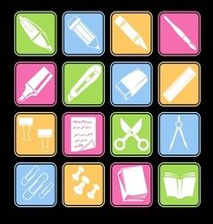 Stationery Icon Basic Style vector image
