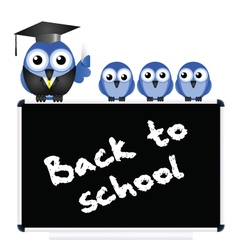 BLACKBOARD BACK TO SCHOOL vector image