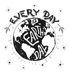 Every day is Earth day holiday vector image