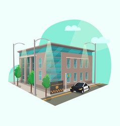 policeman office or police station or department vector image