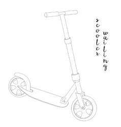 Sketch a Scooter vector image vector image