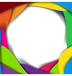 Abstract rainbow background overlap layer and vector image vector image