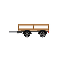 agricultural wooden trailer isolated icon vector image vector image
