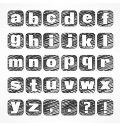 Alphabet icons on white vector image
