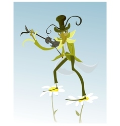 cartoon Grasshopper vector image vector image