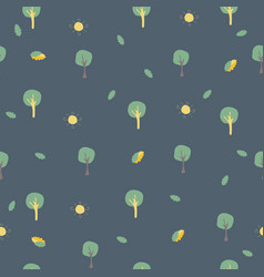 simple seamless pattern with trees foreswoods vector image
