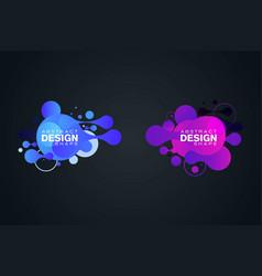 Abstract liquid shape fluid design vector