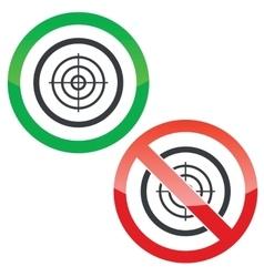 Aim permission signs vector