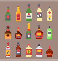 alcohol drinks beverages cocktail bottle lager vector image