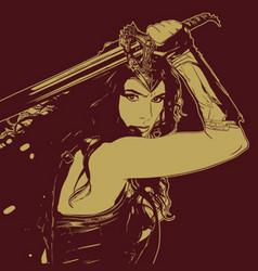 Amazon warrior vector
