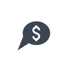 bank message related glyph icon vector image