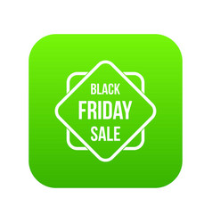 black friday sale sticker icon digital green vector image