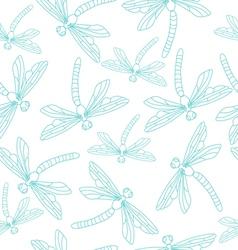 Blue Dragonflies vector