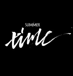 bright poster with hand lettering summer time vector image