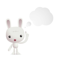 bunny in various poses vector image