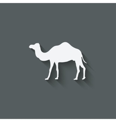 Camel design element vector