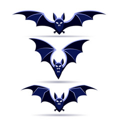 cartoon vampire bat vector image
