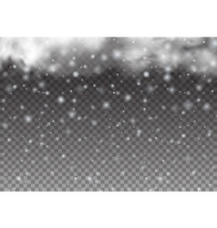 Christmas background Falling beautiful snow vector image