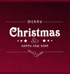 christmas pattern background dark vector image