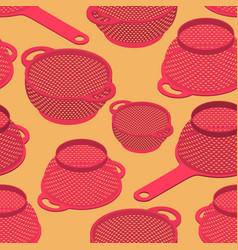 Colander seamless pattern pastafarianism cap vector