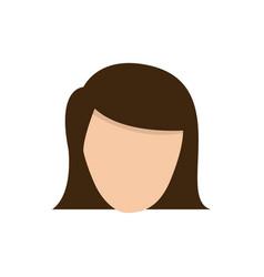 Color face formal woman icon vector