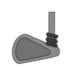 color image cartoon closeup golf club vector image