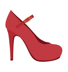 Color silhouette of high heel shoe vector