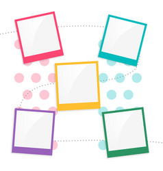 colorful kids scrapbook page template vector image