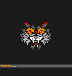 colorful tiger face vector image