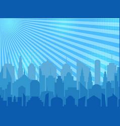 Comic cityscape concept vector