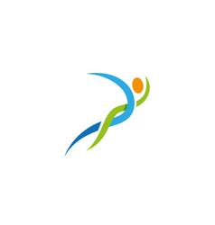 creative abstract body logo design vector image