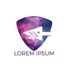 cursor logo design concept vector image