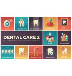 Dental care - set of flat design infographics vector