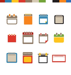 Different calendar web icons collection vector image
