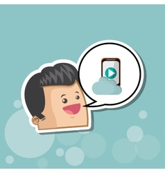 Digital marketing design smartphone icon vector