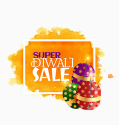 diwali sale background with sparkling crackers vector image