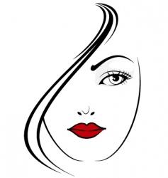 elegant girl vector image