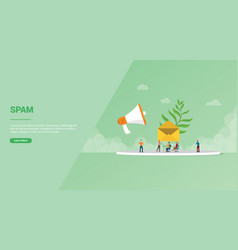 Email spam newsletter for website template or vector