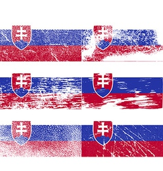 Flag of Slovakia with old texture vector image