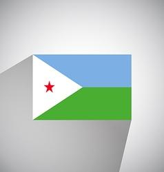 Flat Flag of Djibouti vector