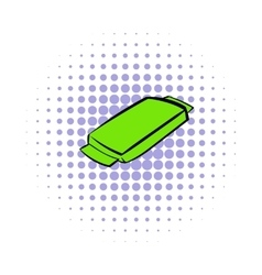 Food box icon comics style vector image