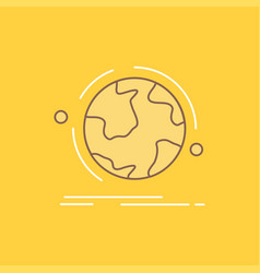 globe world discover connection network flat line vector image